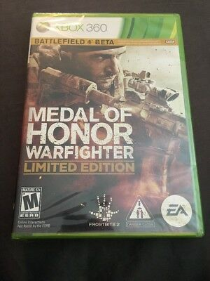 ❤️NEW - Medal of Honor Warfighter LIMITED EDITION Microsoft Xbox 360 FREE SHIP❤️