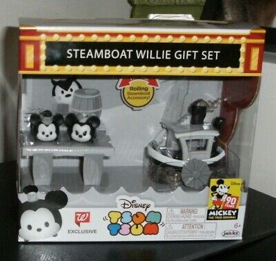 Disney Tsum Tsum Steamboat Willie Gift Set Walgreens Exclusive Mickey 90th Years