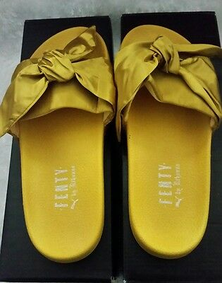 PUMA X RIHANNA Fenty Slides Red Slippers bow size 8.5 and size 9 ... d937b4c9d