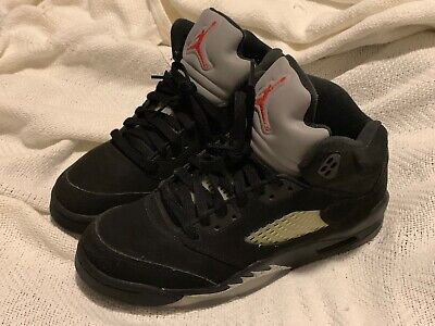 e40cd91fff9 Nike Air Jordan Retro 5 Men's Shoes, Size 6.5 US, Black / Metallic Silver