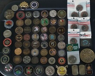 69 COINS CHALLENGE Coin lot set Collection Military See ALL Pics ALL  SERVICES