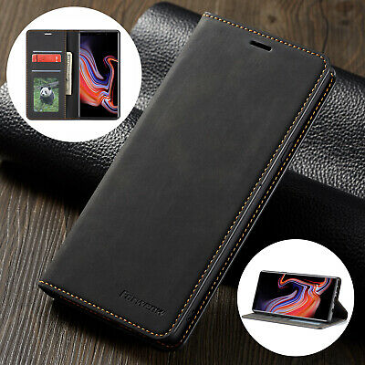 For Samsung S8 Plus Case Note 9 S9+ Premium Leather Wallet Phone Magnetic Cover