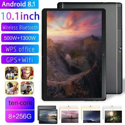 """10.1""""Tablet PC Android 8.1 Ten Core Wifi 8GB+256GB Bluetooth 4.0 Phone Call New"""