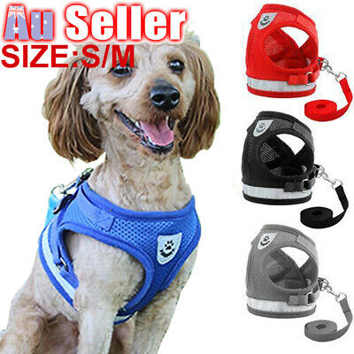 Pet Adjustable Small Walking Harness Reflective Strap Vest Dog Lead and Cat for