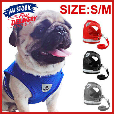 Pet Reflective Strap Vest Small for Cat Dog Lead Walking Harness Adjustable and