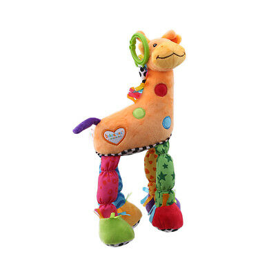 Baby Giraffe Model Rattle Ring Bell Music Baby Bed Hanging Toy Kids Gift B