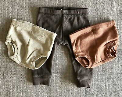 Quincy Mae ORGANIC Baby Legging x1 and Bloomers x2 - 3-6 MONTHS + EXPRESS POST