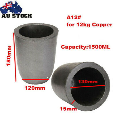 A12# Graphite Furnace Casting Foundry Crucible Copper Melting Tool for 12KG