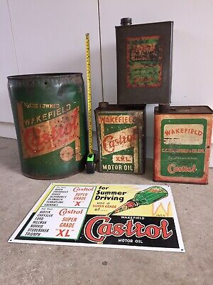 Castrol Wakefield, Vintage early paper decal and lithograph print.