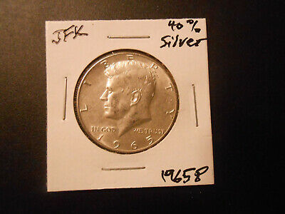 1965 P: JFK- Kennedy, Silver/clad Half Dollar circulated  # 9121