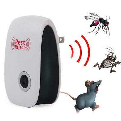 Ultrasonic Anti Mosquito Tool Indoor Mice Pest Bug Control Repeller Pet Safety