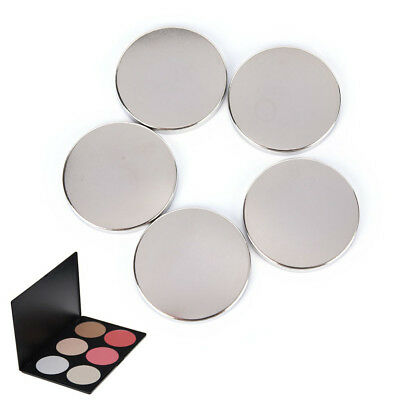5/15X Empty Round 36.5MM Tin Pans for   Eyeshadow Responsive to Magnets