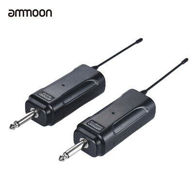 ammoon Portable Wireless Audio Transmitter Receiver System for Guitar Bass Z4V5