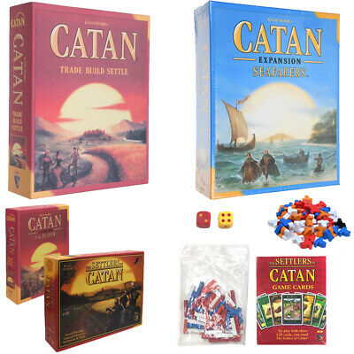 Catan 5th Edition Basic Settlers Set Seafarers Extension Party Game Board Game