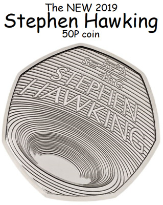 STEPHEN HAWKING 50p Pence Coin BU Un-circulated 2019.