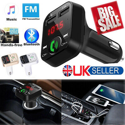 Wireless LCD Bluetooth Car MP3 FM Transmitter AUX SD 2 USB Charger Handsfree Kit