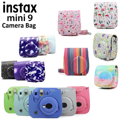 PU Leather Bag Carry Cover Case For Fujifilm Fuji Instax Mini 8 9 Instant Camera