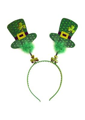 St Patricks Day Mini Top Hat Shaped Head Boppers  on Head Band Great Party Fun