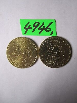 2 x  coins from Lebanon     6    gms      Mar4946
