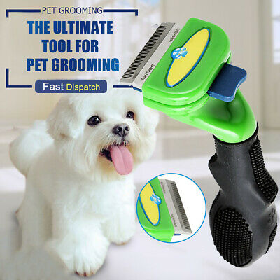 Pet Cat Dog Tool Stainless DeShedding Long Short Fur Hair Comb Grooming Brush