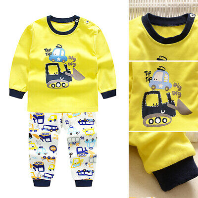 2PCS Baby Boy/Girl Underwear Sets Children Cotton Autumn Warm Clothes Pants Suit