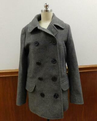 JCrew $288 Mens Wool Dock Peacoat Thinsulate antique pewter Jacket h485 XL grey