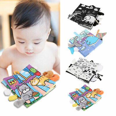 Baby Soft Books for Newborn Babies Toddler Educational Toy Durable Feel Activity
