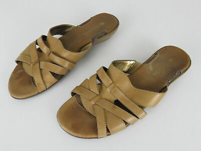 5245de2cd42 Naturalizer Women s Light Brown Barta Strappy Low Wedge Sandals Size 8 1 2  Wide