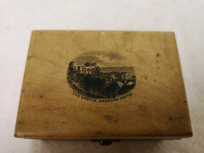 Barnard Castle, County Durham Small Maucheline Ware Box c.1890s. Lovely!