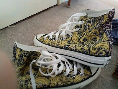 Converse Chuck Taylor Trainers - New design -Size 7 uk women -gold/brown/panther