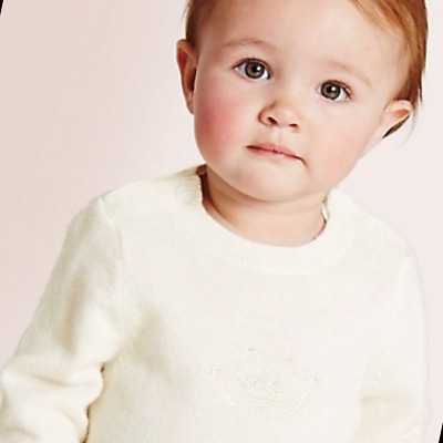 Baby Pure Cashmere Jumper / M&S £50 Baby Marie Chantal Cream BNWT 1 Month Marks