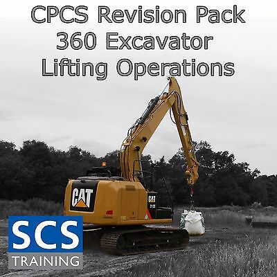 CPCS Revision Pack 360 Excavator Lifting Operations A97 A98 Study Notes