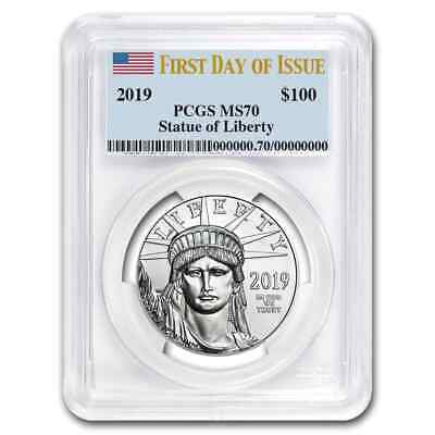 2019 1 oz Platinum American Eagle MS-70 PCGS (First Day of Issue) - SKU#181408