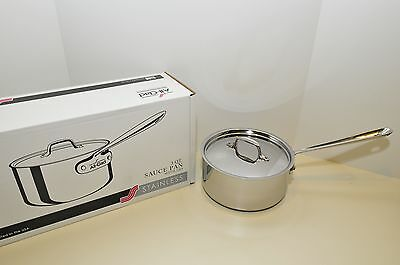 All Clad Stainless 3 Qt  SAUCE PAN  New Stainless Model 4203