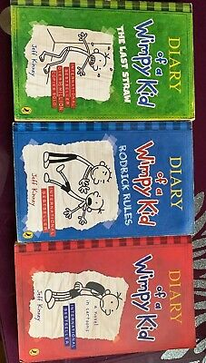 Diary Of A Wimpy Kid. 3 Book Set.Children.Trendy.Reading.School.Hobby