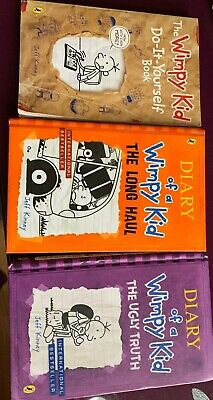 Diary Of A Wimpy Kid- Set Of 3 Books.Reading,Kids.Hobby.Reading.School.Fun