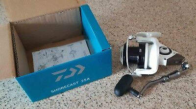 f1d46bc2d36 DAIWA SHORECAST 25A Beach Boat Carp Pike Fixed Spool Reel - £40.00 ...