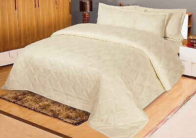 Jacquard Floral Vintage Bedspread Coverlet Throw Bedcover Quilt 5 Pcs Cream