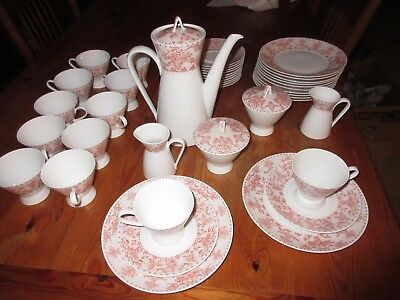 Rosenthal Continental IDYLL PEACH Lunch Set Service for 12 EXCELLENT 44 PCS