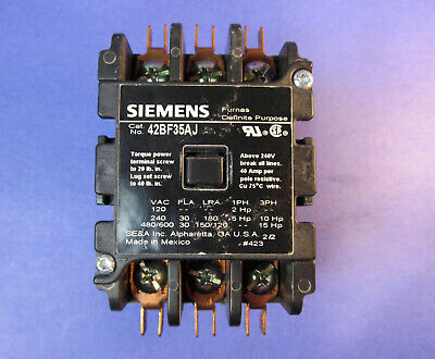 24V 30A 3 Pole Definite Purpose Contactor Furnas Siemens 42BF35AJ