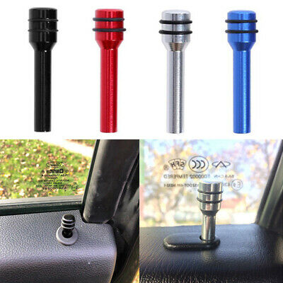 2pcs Aluminum Universal Car Interior Door Lock Stick Knob Pull Pin Lift Button