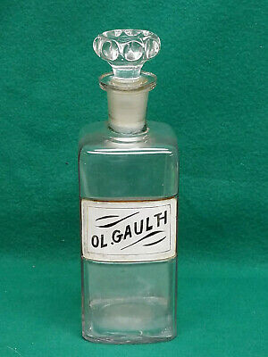Rare Signed & Dated 1800s Apothecary Jar W/Hand Decorated Label Under Glass (6)