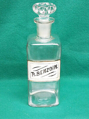 Rare Signed & Dated 1800s Apothecary Jar W/Hand Decorated Label Under Glass (8)