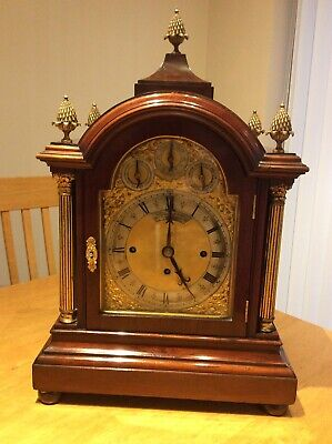 Circa 1890 Triple Chain Fusee Bracket Clock London Maker Eight Bells / 5 Gongs