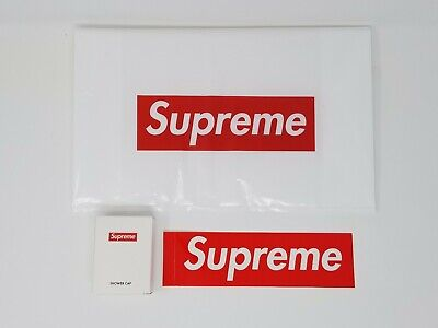 Supreme Shower Cap & Box Logo Sticker & Supreme Plastic Bag