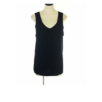 5f32b2a4a455fd Chicos Travelers Womens Sleeveless Shell Tank Slinky Top Size 3 XL Black  Solid