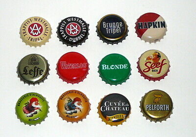 Lot de 12 capsules de bière de collection