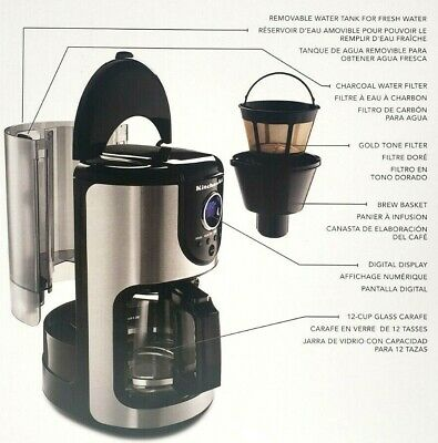 KitchenAid KCM111OB 12-Cup Glass Carafe Coffee Maker - Onyx Black