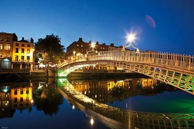 Dublin : Halfpenny Bridge Landscape - Maxi Poster 91.5cm x 61cm new and sealed