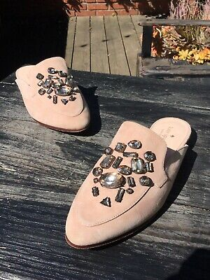 b4cb2f30b4f8 KATE SPADE CAVELL Women s Pink Suede Slip On Moccasin Mule Loafers ...
